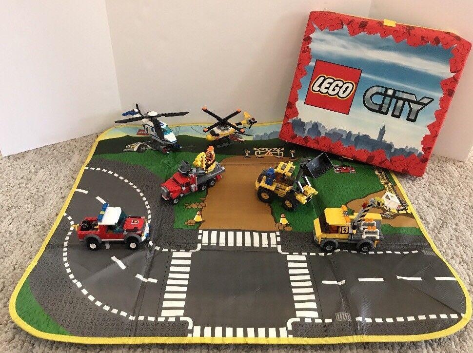 Lego city viel bau polizeihubschrauber playmat lagerplatz minifigures