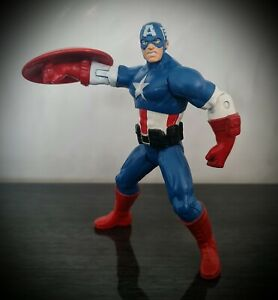 "Marvel Avengers Captain America 6"" Action Figure With Shield Hasbro 2012"