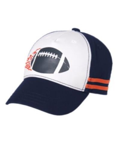 GYMBOREE EVERYDAY ALL STAR FOOTBALL IN FLAMES BASEBALL CAP HAT 5 6 7 8 10 12 NWT
