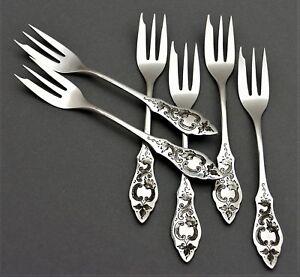 Ostfriesen-HTB-Hanseatische-6-Kuchengabeln-800er-Silber-Besteck-78