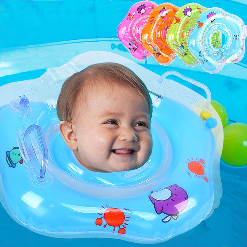 New Swim Ring Newborn Baby Swimming Neck Float Ring Bath Inflatable ...