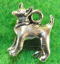 50Pcs. WHOLESALE Tibetan Silver 3D Chihuahua DOG Charms Pendants Ear Drops Q0183