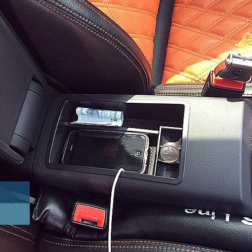 Almacenamiento APOYABRAZOS CONSOLA NEGRA caja de guante Secundario Apto Para 2013-2015 AUDI A3