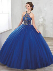 be085f8d71 Gold Beaded Quinceanera Dresses Puffy Skirt For 15 Years Prom Formal ...
