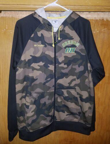 Mens medium Columbia camo Oregon zip up hoodie