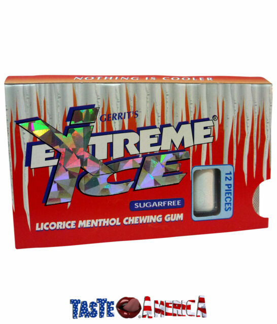 Gerrits Extreme Ice Licorice Menthol Chewing Gum 12 Piece Single Pack