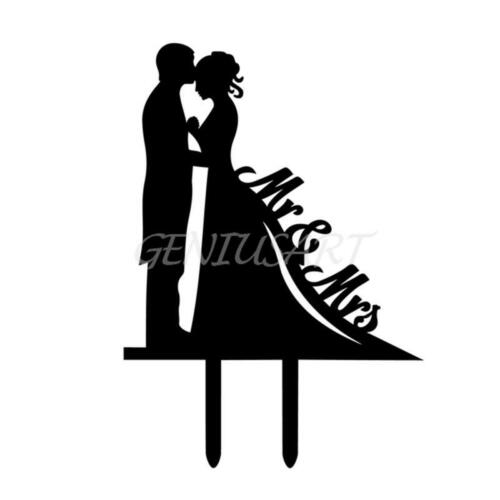 Cake Topper Wedding Mr Mrs Bride Groom Anniversary Party Favours Decoration