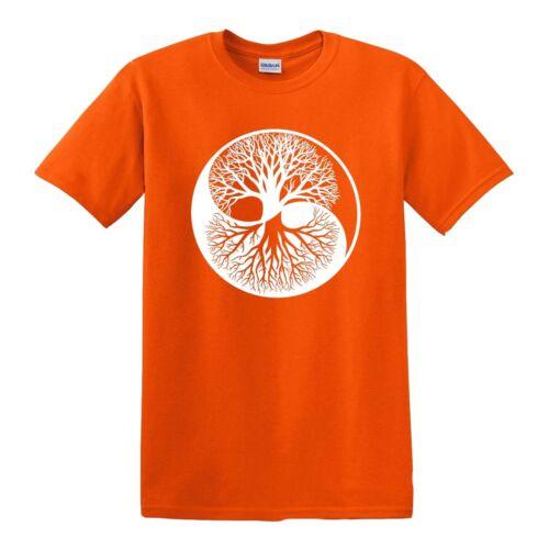 YIN YANG YGGDRASIL TREE T-Shirt Peace Tree of Life Celtic Tribal Tattoo Gift