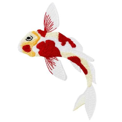 Fisch Bügelbild MQ 16001 Koi Applikation Flicken zum Aufbügeln Karpfen Patch