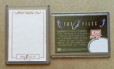 THE X-FILES BLANK SKETCH CARD * IDW LIMITED  * 1 OF 1 * RARE ARTIST PROOF
