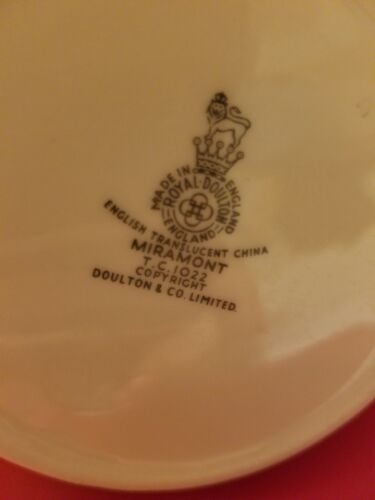 "Cream Pitcher or Jug 3/"" ROYAL DOULTON China MIRAMONT TC1022 Creamer"