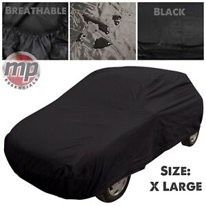 Black Indoor Outdoor Frost Rain Sun Breathable Full Car Cover for Porsche Cayman