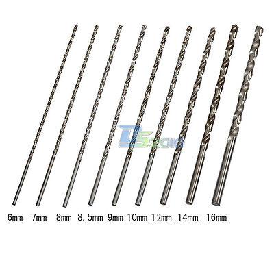 6-16mm 1 Pc Extra Long 350mm HSS Twist Drill Straigth Shank Auger Drilling Bit