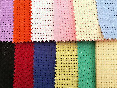 BINCA Cross Stitch Fabric  AIDA 6 Count 12.5// 50// 100cm Sheets Lots of Colour s
