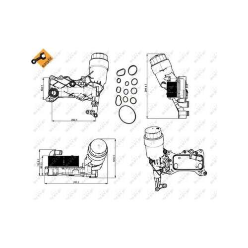 Fits Mercedes C-Class W204 C 200 CDI Genuine NRF Engine Oil Cooler