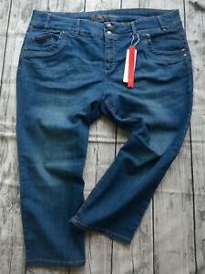 Sheego-Women-039-s-Jeans-Kira-7-8-Capri-Pants-Trousers-Size-44-to-58-Blue-178