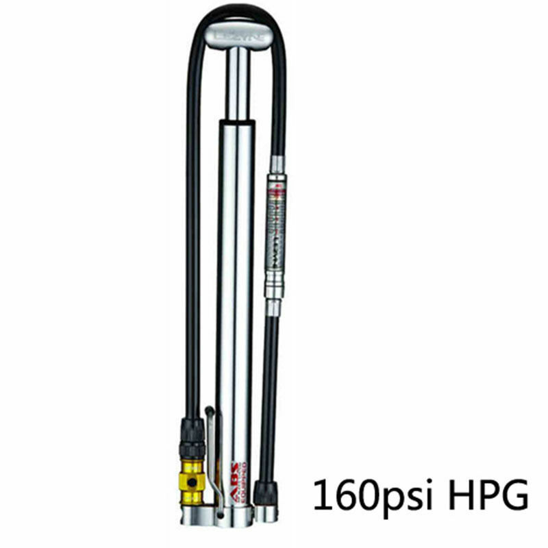 LEZYNE Cycling Bike Micro Floor Pump Drive HP 160psi CNC With Pressure Gauge