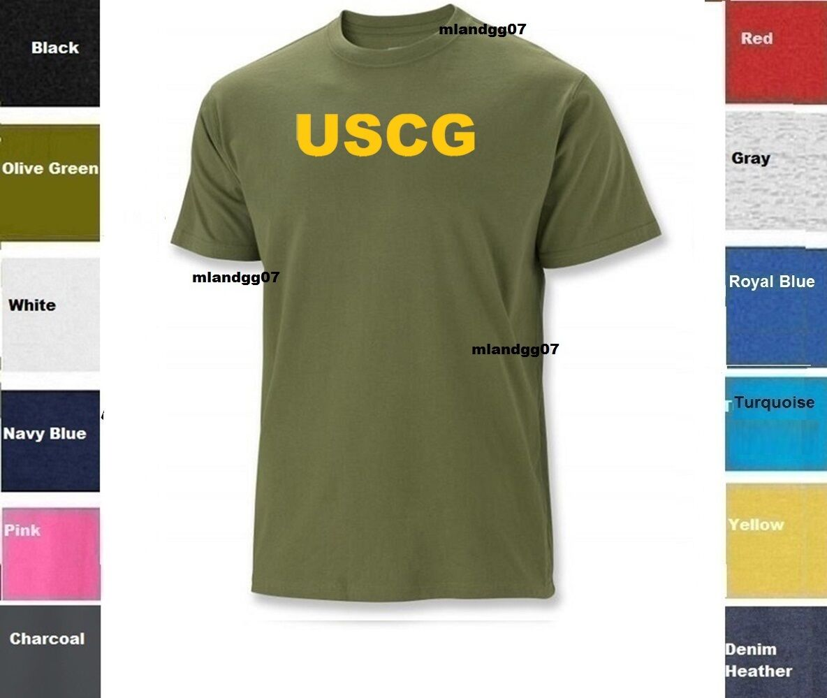 US Coast Guard t-shirt white on gray tee shirt men/'s USCG design t-shirt