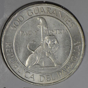 Paraguay-1968-300-Guaranies-silver-P0235-combine-shipping