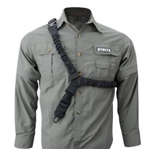 Tactical-One-Single-Point-Sling-Strap-Bungee-Rifle-Gun-Sling-with-QD-Buckle