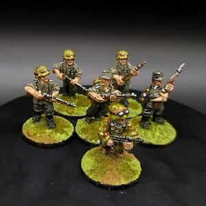 Dipinto 28mm BOLT ACTION tedesco GRANATIERI × 6 ww2 1st Corps Miniatures