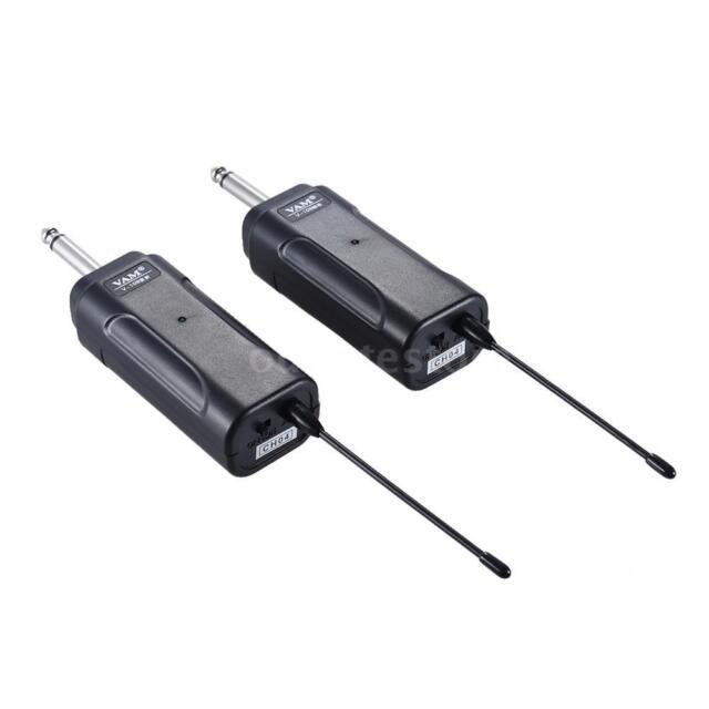 portable wireless audio transmitter receiver system for guitar bass violin n2b9 for sale online. Black Bedroom Furniture Sets. Home Design Ideas