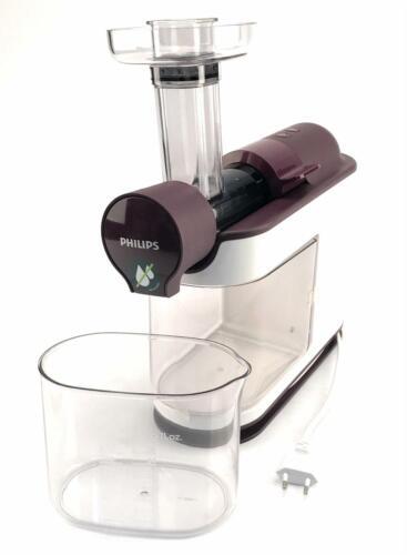 Philips Avance HR1891/80 Entsafter Slow Juicer 200 W Saftpresse weiß/lila  zZS6c