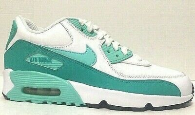 Nike Air Max 90 Running Shoes GS White Turquoise Jade 833376 106 Size 7Y 885176175390 | eBay