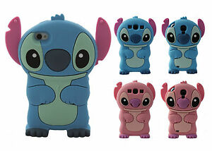 NOUVEAU-Coque-Case-Cover-silicone-3D-Lilo-amp-Stitch-iPhone-4-5-S-C-6S-For-SAMSUNG