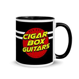 Cigar Box Guitar Mug - Perk up your CBG mornings like that Old 3 String Guitar