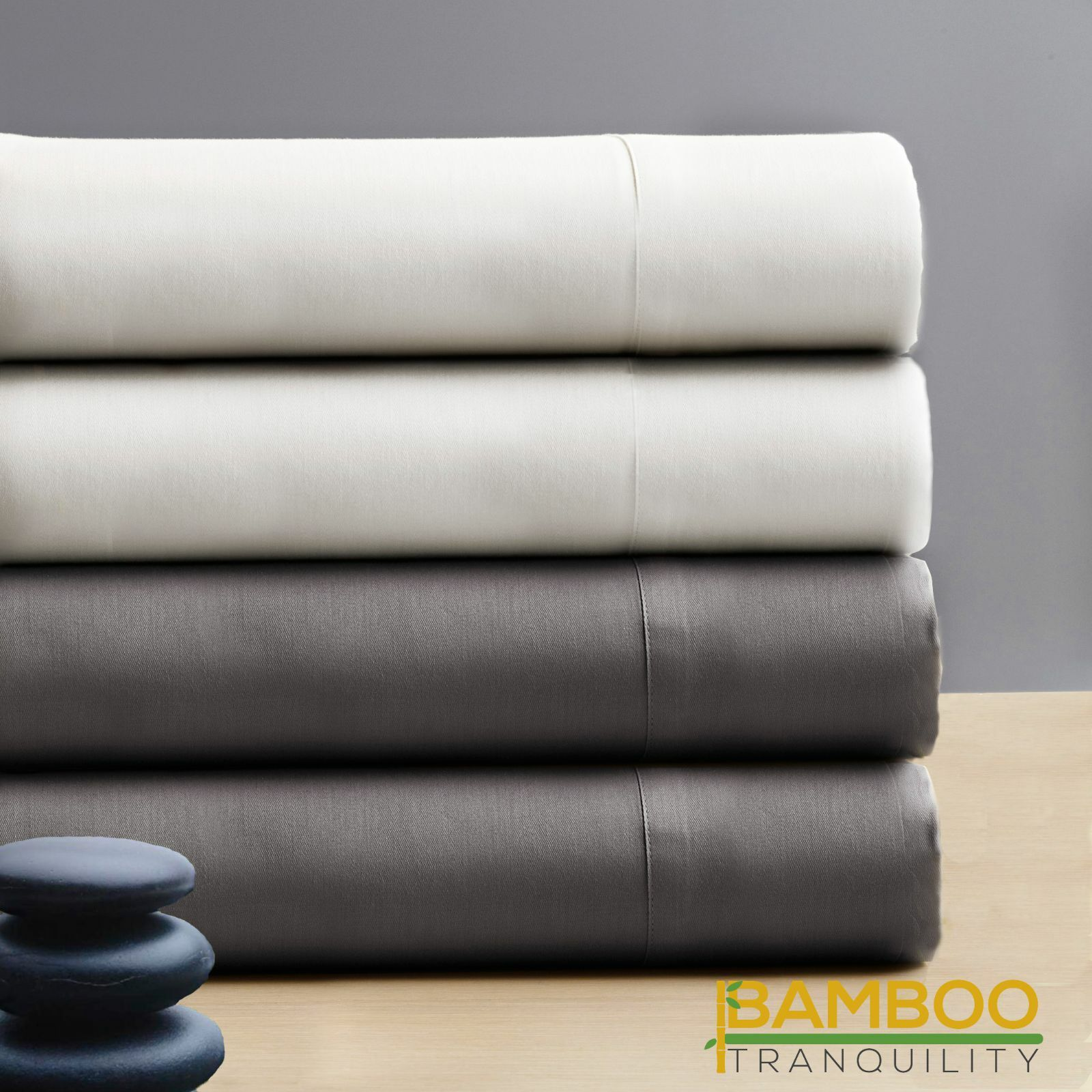 Bamboo Bed Sheets  Premium 100% Bamboo Viscose Threadcount 300 Bedroom Standard
