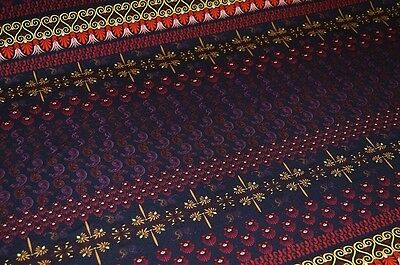 Jersey schwarz Paisley-Muster violett-rot #0185b