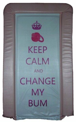 KEEP CALM /& CHANGE MY BUM SOFT PADDED DELUXE BABY CHANGING MAT WATER PROOF MAT