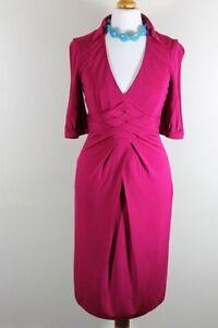 Karen-Millen-DE098-Red-Formal-Petite-Wiggle-Pencil-Dress-World-Free-Postage