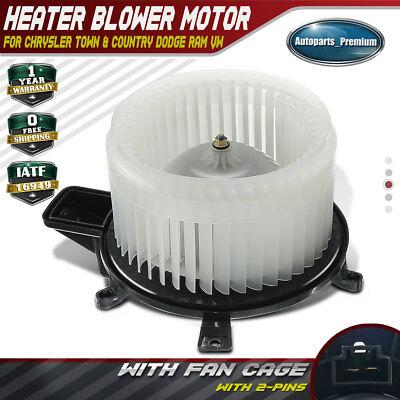 Heater Blower Motor Front w// Wheel For 2008-2016 Dodge Grand Caravan