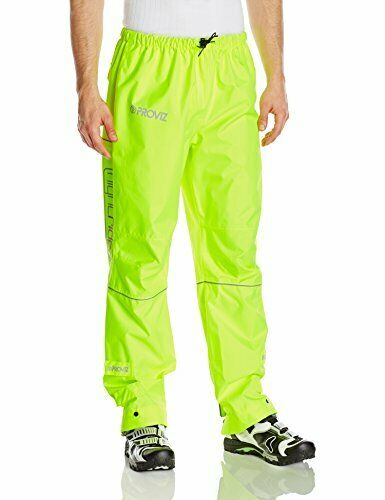 Proviz Mens Nightrider Waterproof Cycling Trousers  giallo, Medium