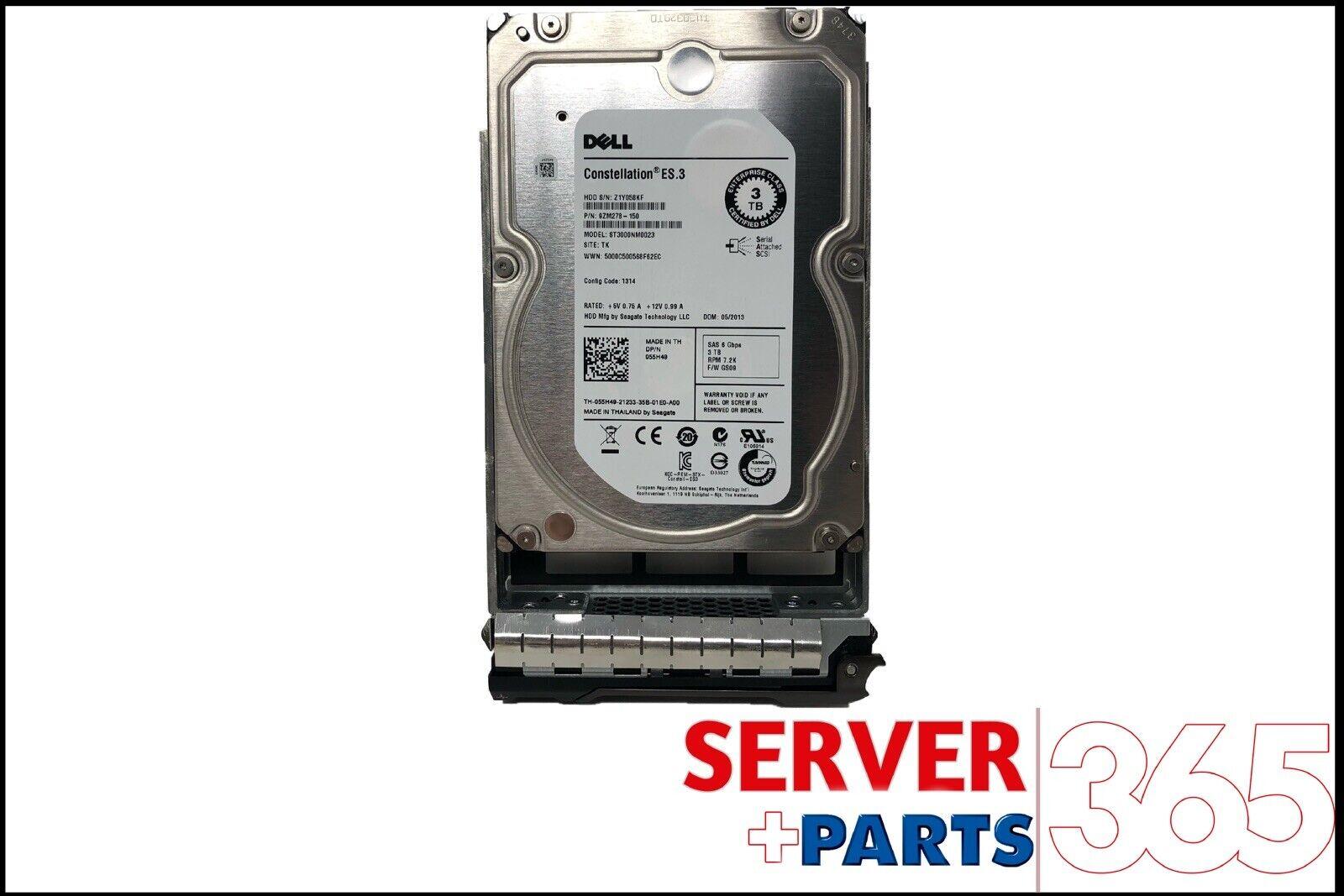 3TB 7.2K RPM 6Gb//s 3.5 SAS HD 055H49 Dell
