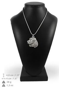 English-Springer-Spaniel-silver-plated-pendant-on-the-silver-chain-Art-Dog-IE
