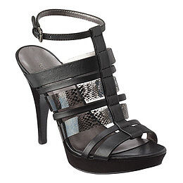 Nine West Wouomo Symbolize Platform Sandal nero Leather 10M