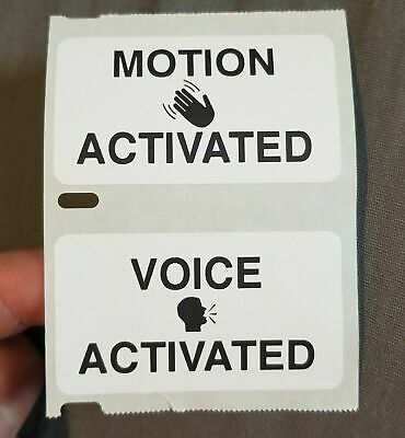 """/""""MOTION ACTIVATED/"""" 25-1000 Pack Stickers Gag prank sticker"""