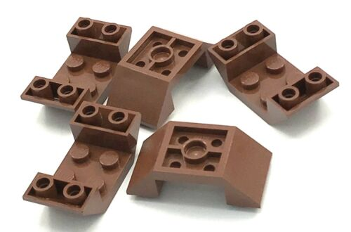 Lego 5 New Reddish Brown Slope Sloped Inverted 45 4 x 2 Double Pieces