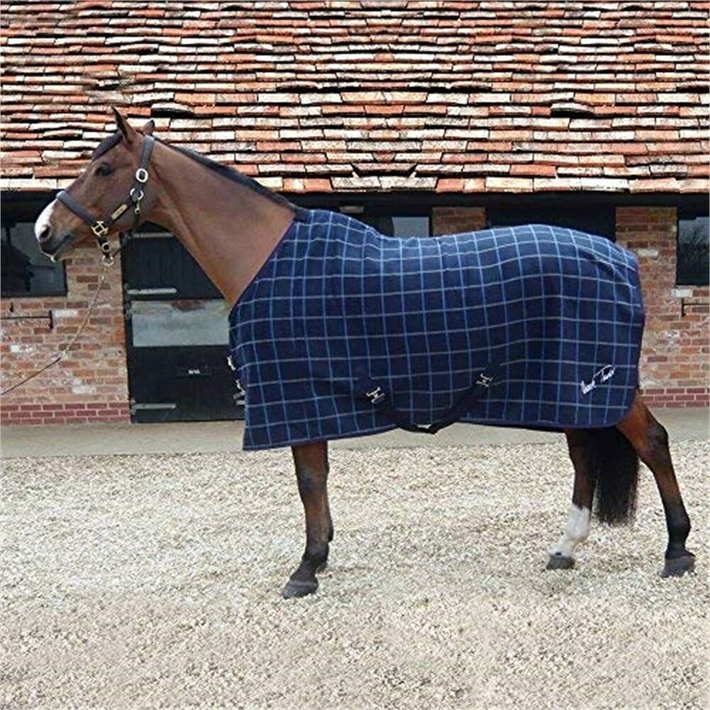 Mark Todd Bonded Fleece Rug 5' 9 Navy Plaid  Thick