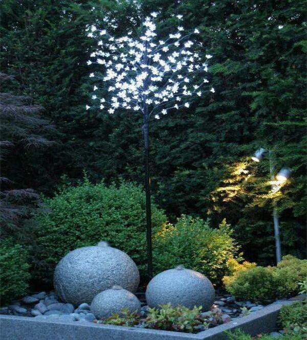 Weihnachtsbaum Lichterbaum LED warmweiß 200 LEDs 1,8 m IP44 TÜV GS NEU & OVP