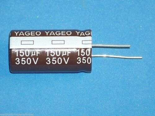 radial Ø22x40mm Elko // 350V // 105°C 1 Stk. 150uF 150µF