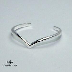 Solid-925-Sterling-Silver-Toe-Midi-Ring-Slim-Heart-Wishbone-Design-Inc-Gift-Bag