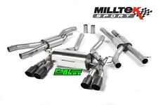 BMW M3 F80 MILLTEK 2.76″ Race Cat Back Exhaust System 4x Black GT90 Tail Pipe