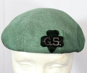gsa scout   1950 s green beret with sewn on g s letters