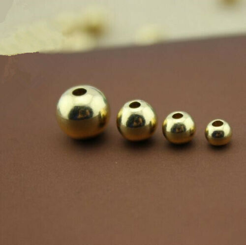 10pcs Brass Beads Metal Beads Smooth Spaced Beads DIY Jewelry Accessories
