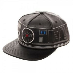 aa1e608b07a First Order BB-9E Black Droid Faux Leather Snapback Hat Cap Star ...