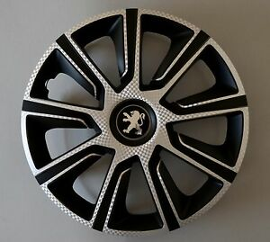 14 peugeot 106 107 206 306 partner wheel trims covers hub caps quantity 4 ebay. Black Bedroom Furniture Sets. Home Design Ideas